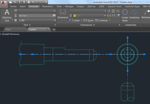 autocad-2017-centerlines-and-center-marks