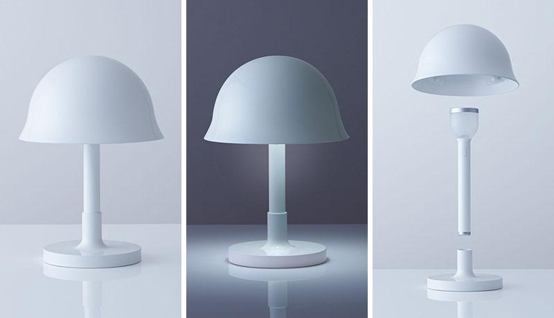 Lampa koju se tokom zemljotresa pretvara u zaštitni šlem
