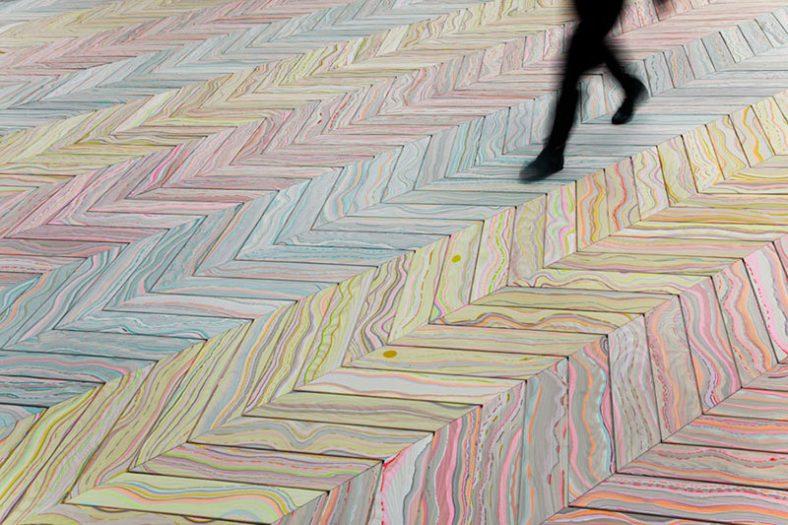 Mermer ili drvo? Inovativna tehnika farbanja podova