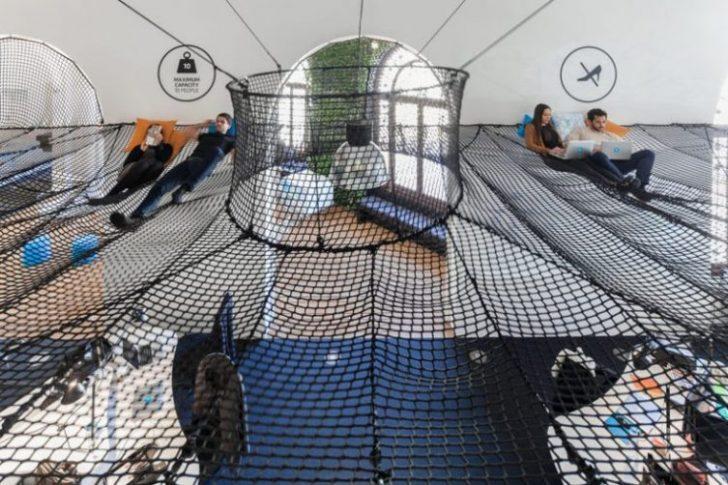 Udobna mreža kao deo radnog prostora lisabonske firme