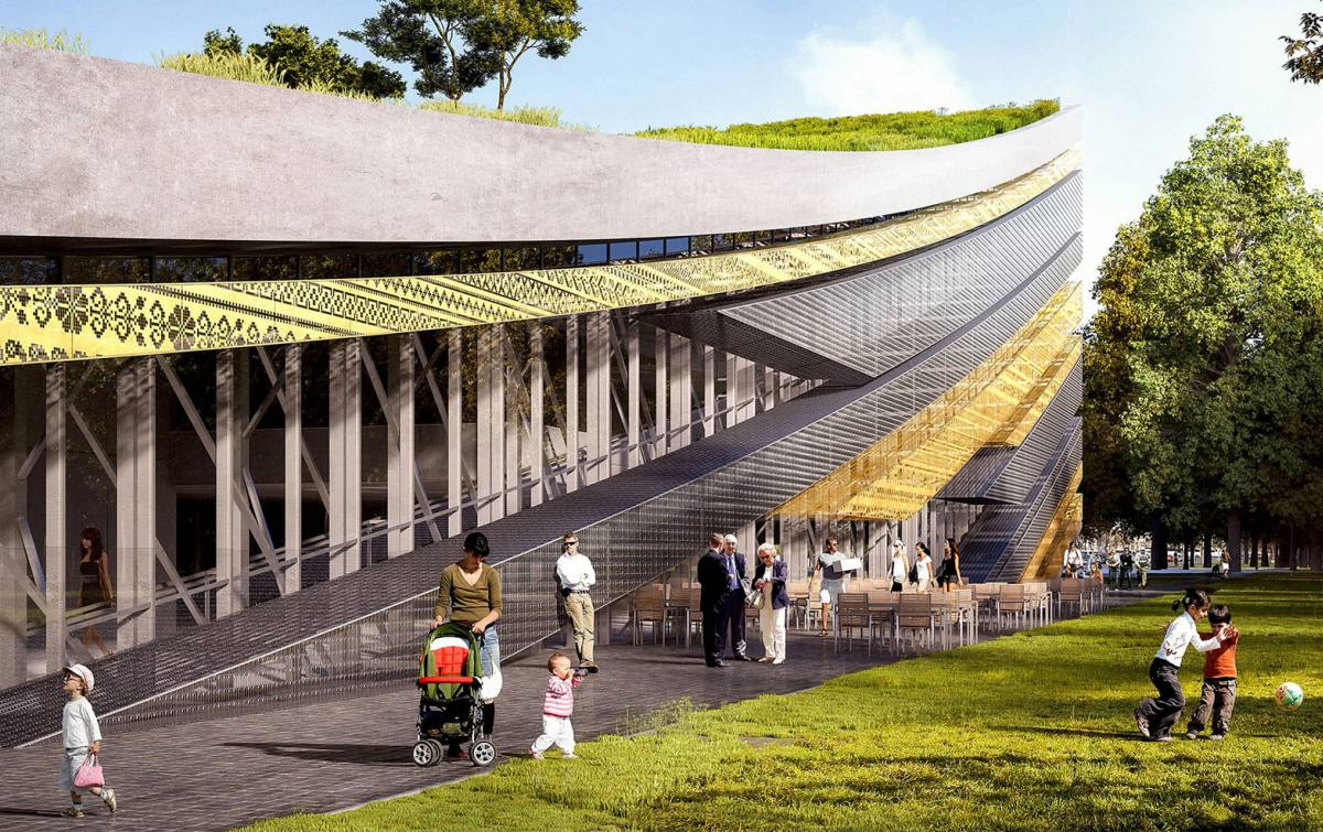 Budimpešta gradi novi muzej u obliku rampe za skejtbord
