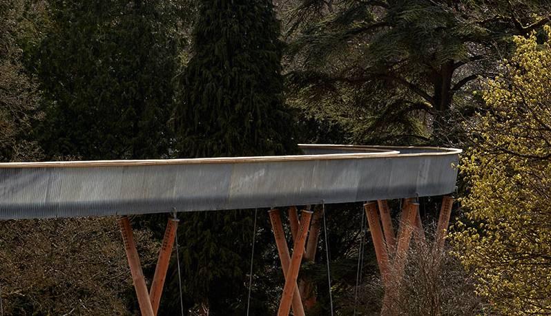 Lagana čelična staza prolazi kroz šumu na visini od 13 metara
