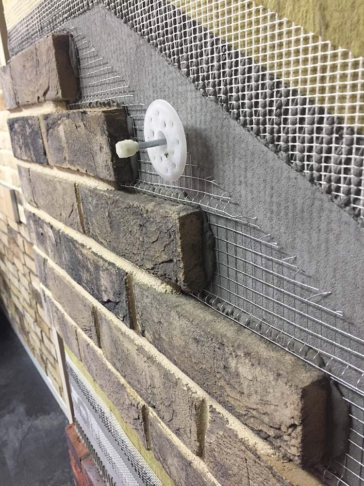 Slojevi za opeku na fasadi. Foto: Brick House