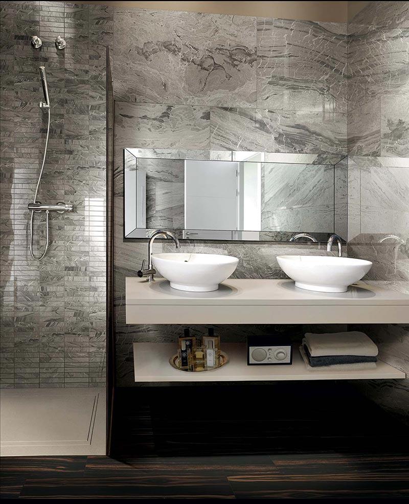 Ideje za ure enje kupatila plo ice sa izgledom mermera for Badfliesen 2016