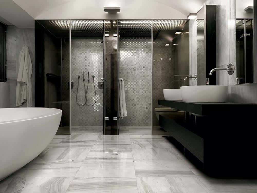 Ideje za uređenje kupatila: Pločice sa izgledom mermera