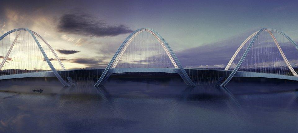 Metalni most inspirisan Olimpijskim krugovima