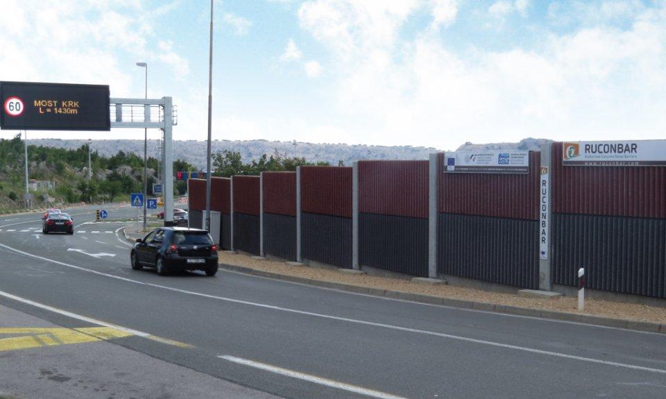 Betonski zid protiv buke s granulama reciklirane autogume