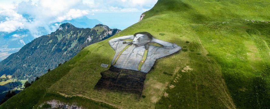 Slikovito brdo Švajcarske: Crtež na 10 hiljada kvadrata