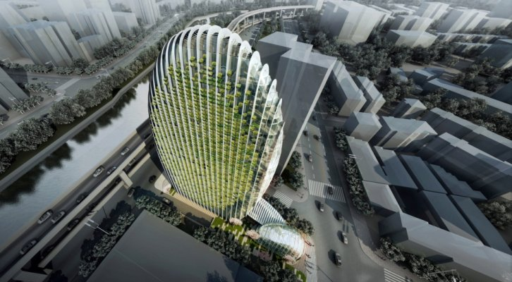 Zelena zgrada u obliku kamenog oblutka postaje ikona Taipeija