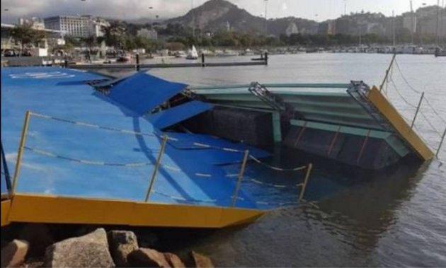 U susret Riju: Srušila se rampa za jedrenje