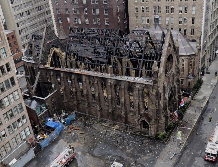 Počinje obnova pravoslavne crkve u Njujorku izgorele u požaru