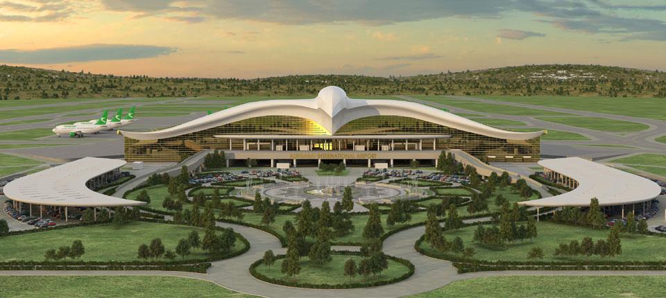 Aerodrom o obliku ptice otvoren u Turkmenistanu