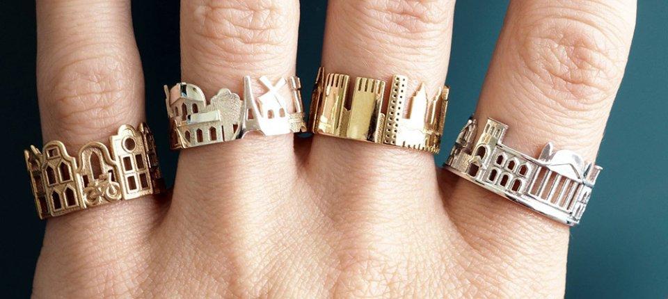 Prsten u obliku vašeg omiljenog grada