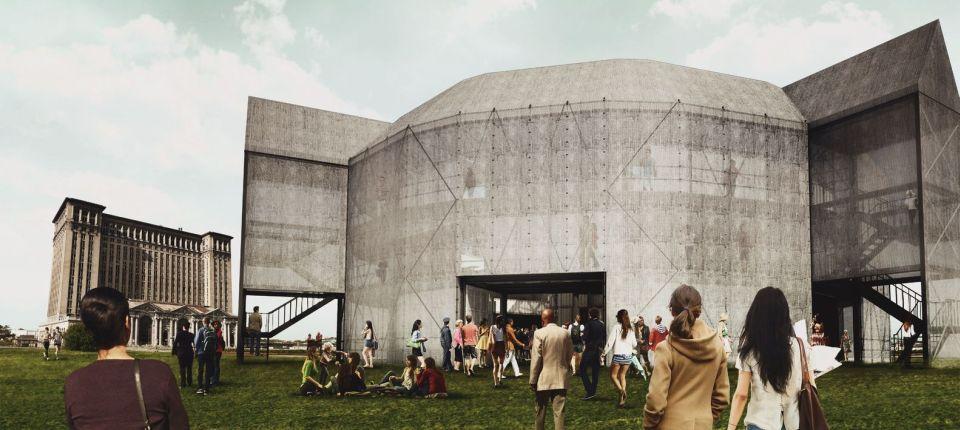 Replika Šekspirovog Glob teatra od transportnih kontejnera