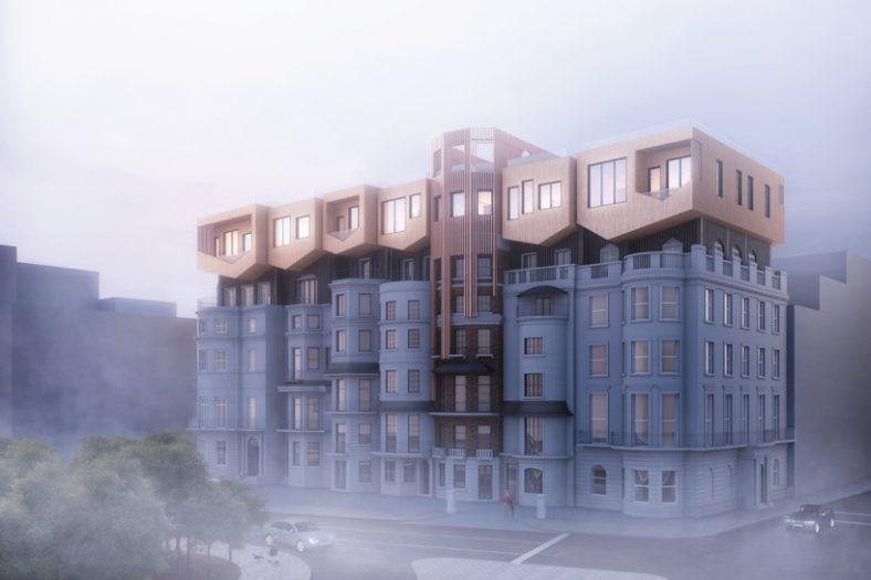 Plan B za prenaseljenost: Nadogradnje zgrada obrnutim kućama od drveta