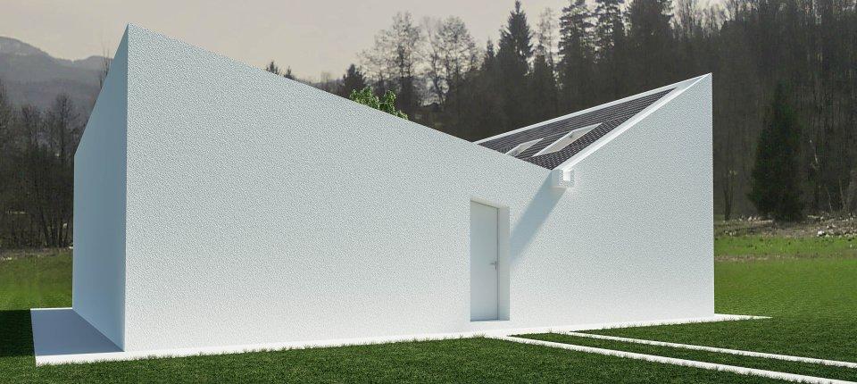 Solarna kuća u Topoli sa ozelenjenim atrijumom