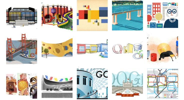 10 najboljih Google logoa u čast arhitekture