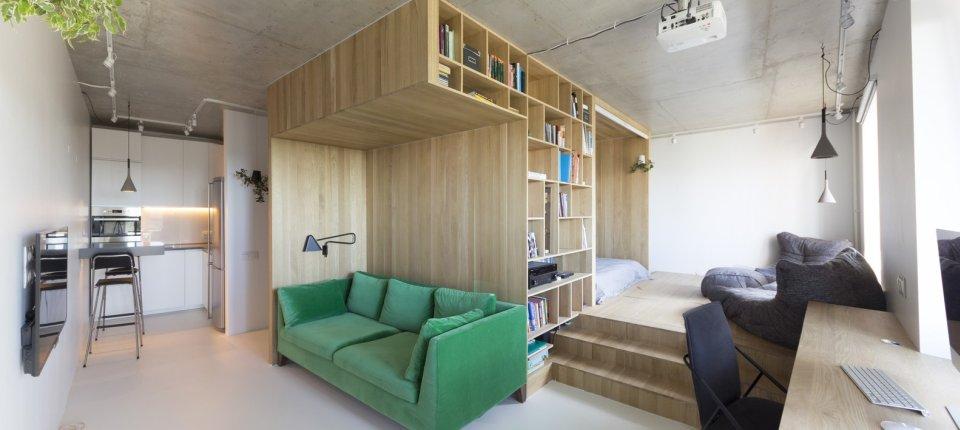 Kako je drvenom strukturom stan podeljen na dva dela