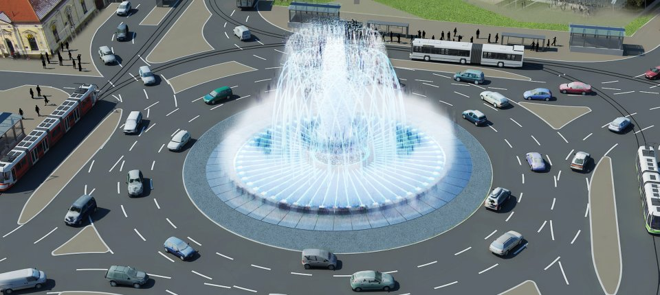 Muzička fontana na Slaviji koju niko ne čuje