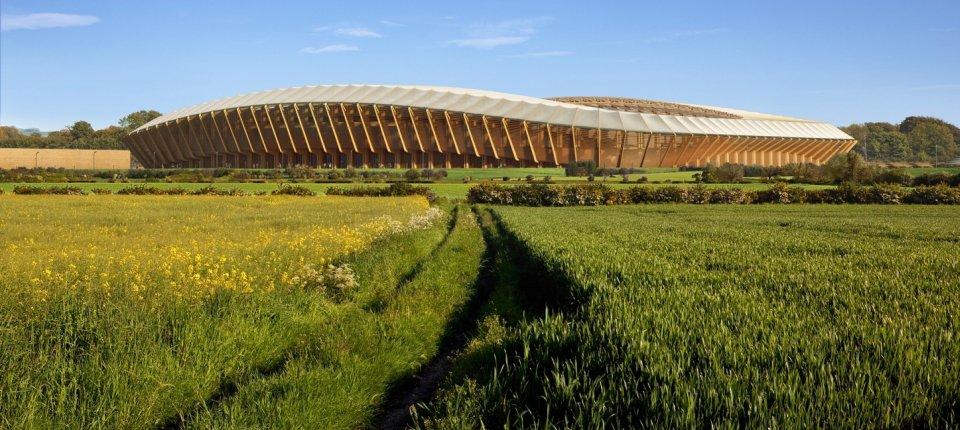 Ovako izgleda prvi stadion od drveta na svetu