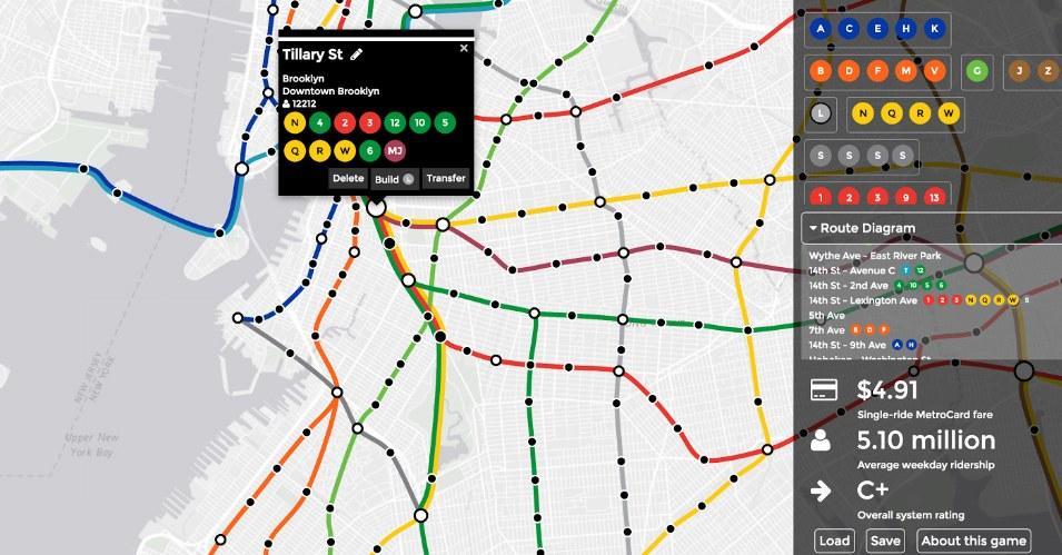 Osmislite mrežu metro linija u novoj video-igri