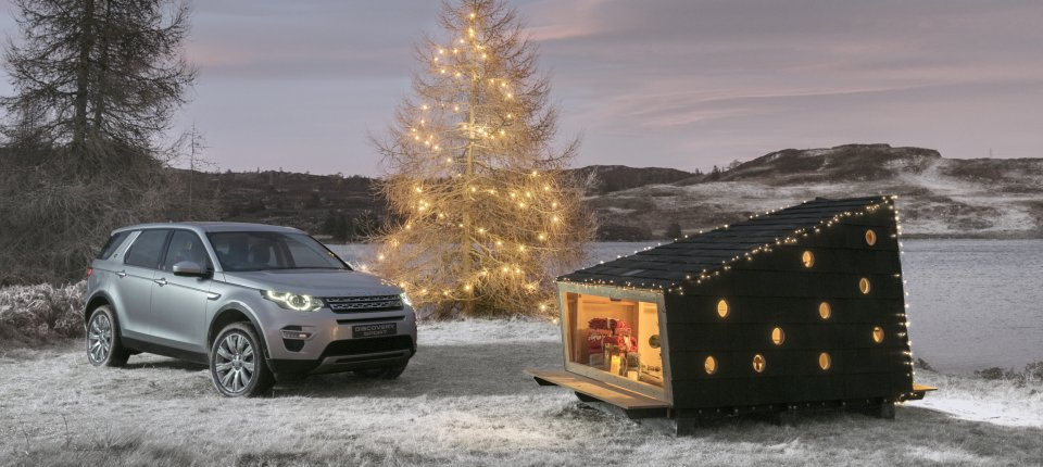 Land Roverova prenosiva koliba za avanturiste i Deda Mraza