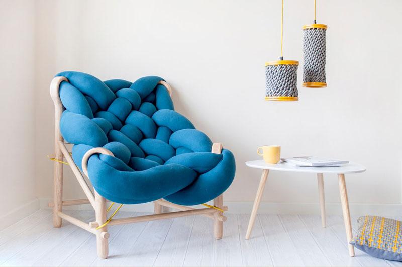 Klot-frket: Ovaj nameštaj i i rasveta napravljeni su pletenjem