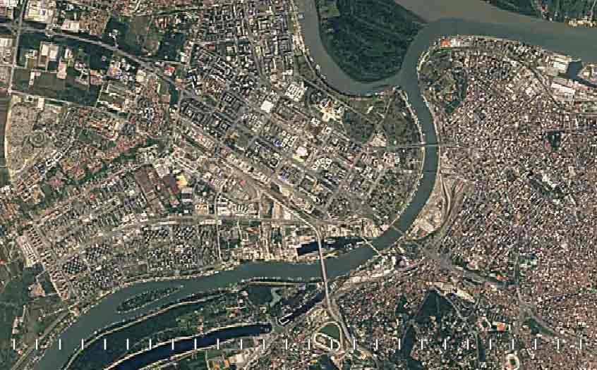 mapa beograda satelitski snimak Ubrzani satelitski snimci razvoja gradova u Srbiji u poslednje 32  mapa beograda satelitski snimak