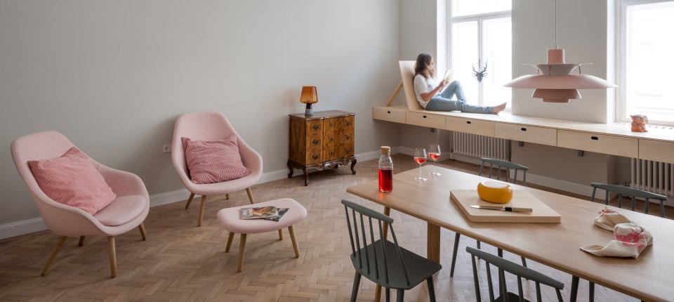 Enterijer stana u Beču po receptu slovenačkih arhitekata
