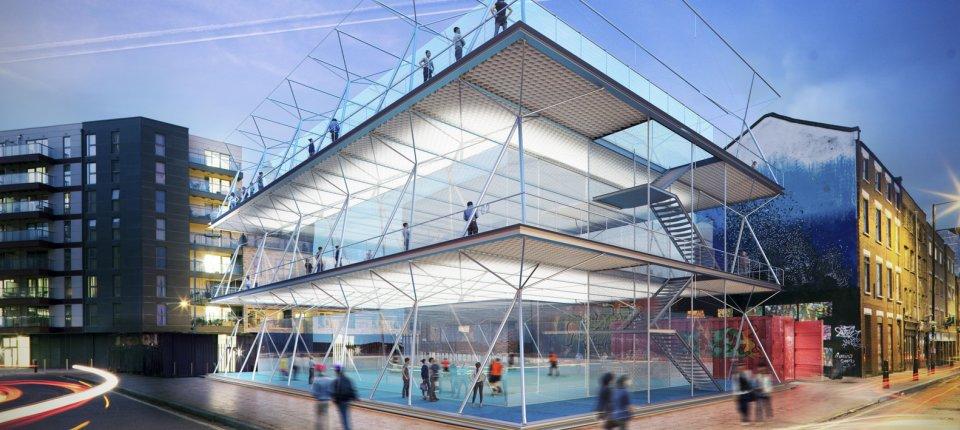 Rešenje za sport u gradovima: Tereni za mali fudbal naslagani jedni na druge