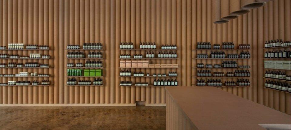Papirni enterijer: Svaki element ove prodavnice napravljen je od kartonskih tuba