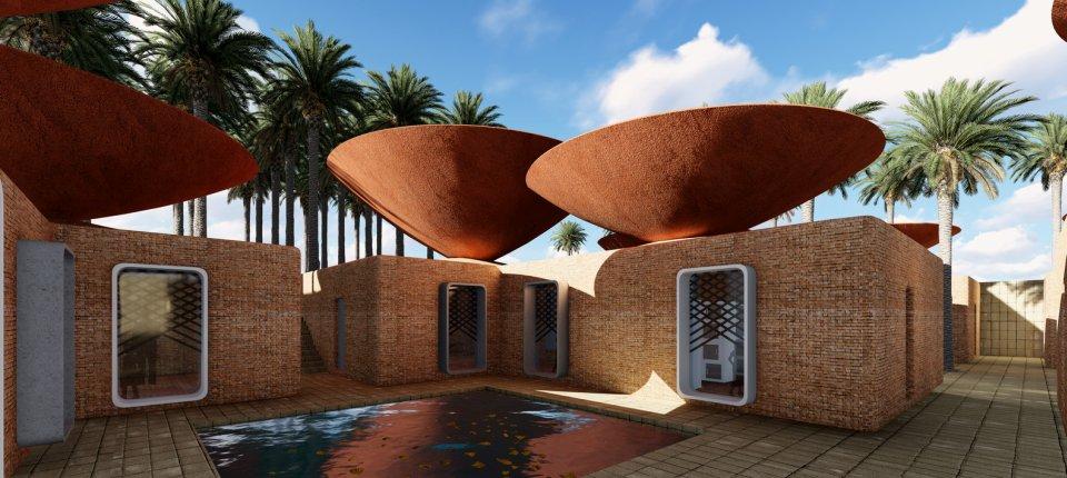 Ovi konkavni krovovi skupljaju kišnicu u sušnim klimatskim područjima