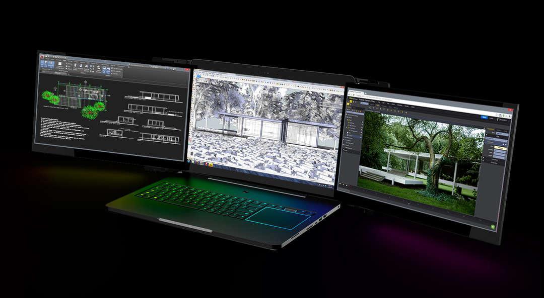 Laptop s tri ekrana: Savršena konfiguracija za arhitektonsku vizuelizaciju