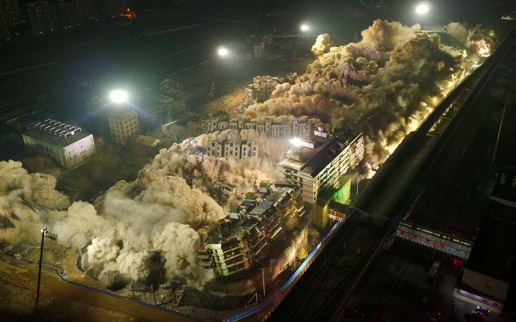 Pogledajte impozantan snimak rušenja 19 nebodera u Kini