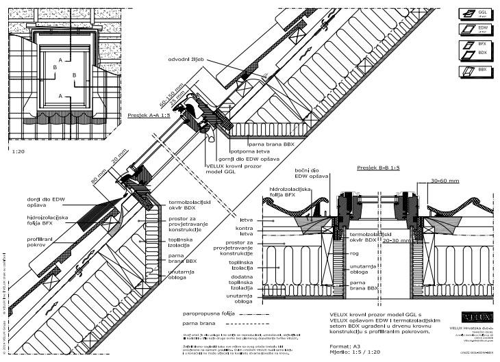 16 CAD crteža krovnih prozora i svetlosnih otvora