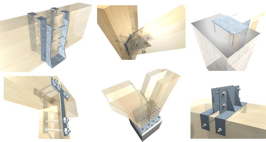 15 karakterističnih metalnih okova za spajanje drvenih konstrukcija