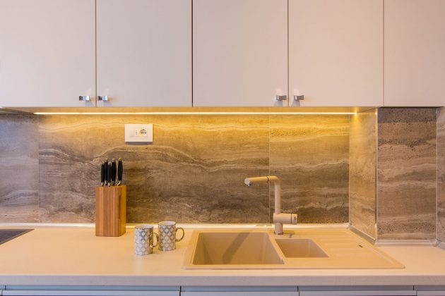 Pločice u kuhinji po projektu dizajnera enterijera Sonje Brstine; foto: Igor Conić