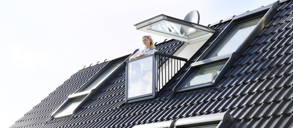Krovni prozor koji se transformiše u balkon