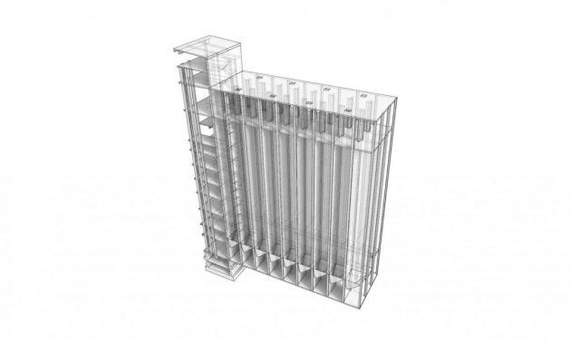 Aksonometrija silosa
