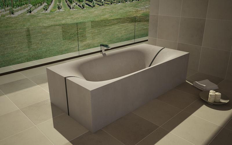 Kupanje u betonu: Kade i umivaonici od poznatog građevinskog materijala