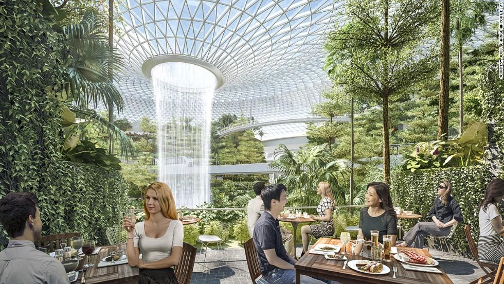 Najveća unutrašnja fontana na svetu gradi se na aerodromu u Singapuru