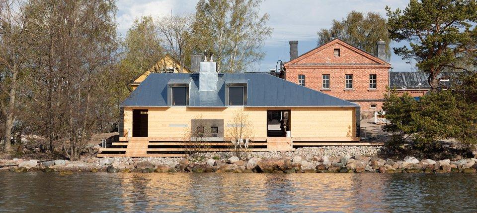 Kako je od kasarne napravljena sauna na finskom ostrvu