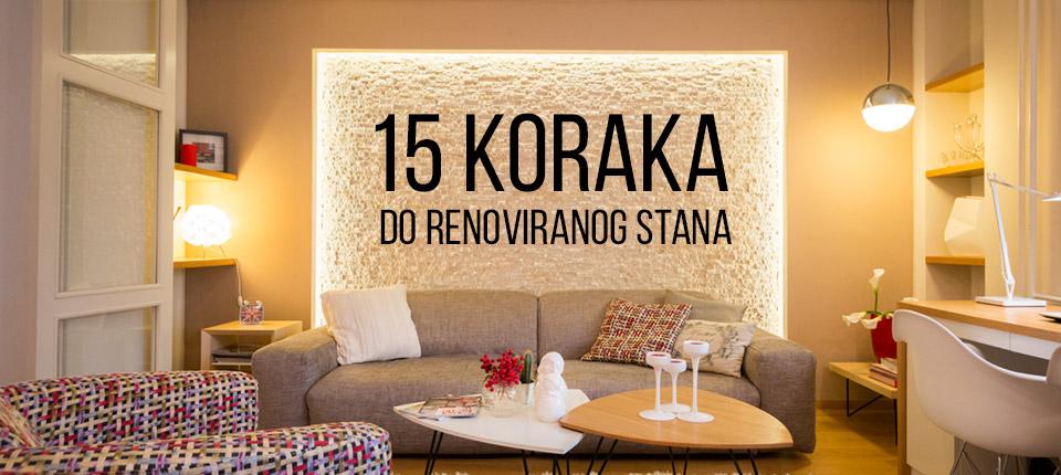 15 koraka do renoviranog stana