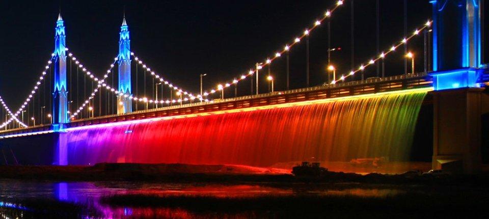 Kineski most sa slapovima od LED svetala