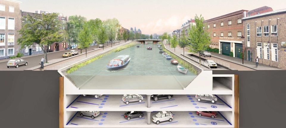 U Amsterdamu se gradi parking ispod kanala