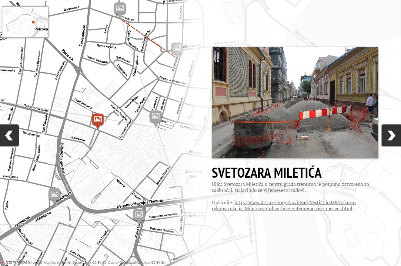 Novi Sad Dobio Mapu Raskopanih Ulica