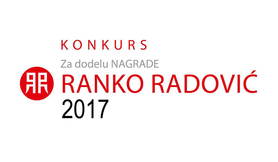 Poziv za učešće u konkursu za Nagradu Ranko Radović 2017