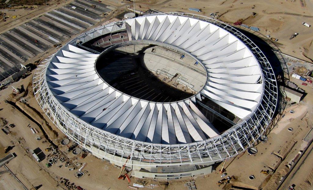 Montiranje krova stadiona Atletiko Madrida u minut i 30 sekundi