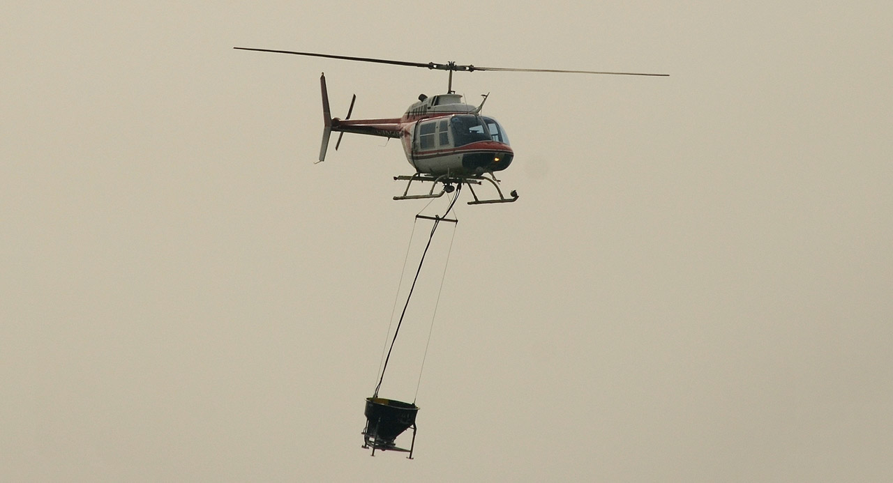 Impresivna dostava betona helikopterom (video)
