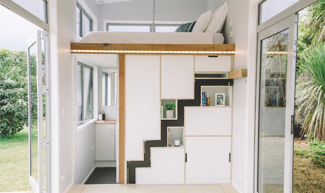 Sklopivo stepenište je zvezda ove male kuće na točkovima